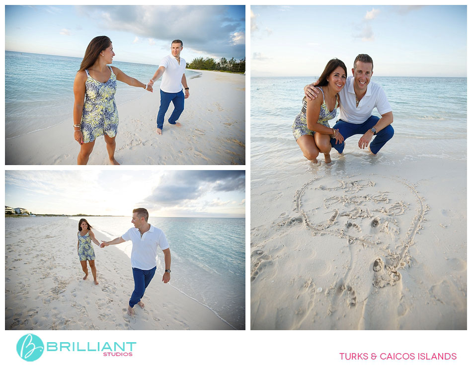 Magical proposal on Grace Bay beach