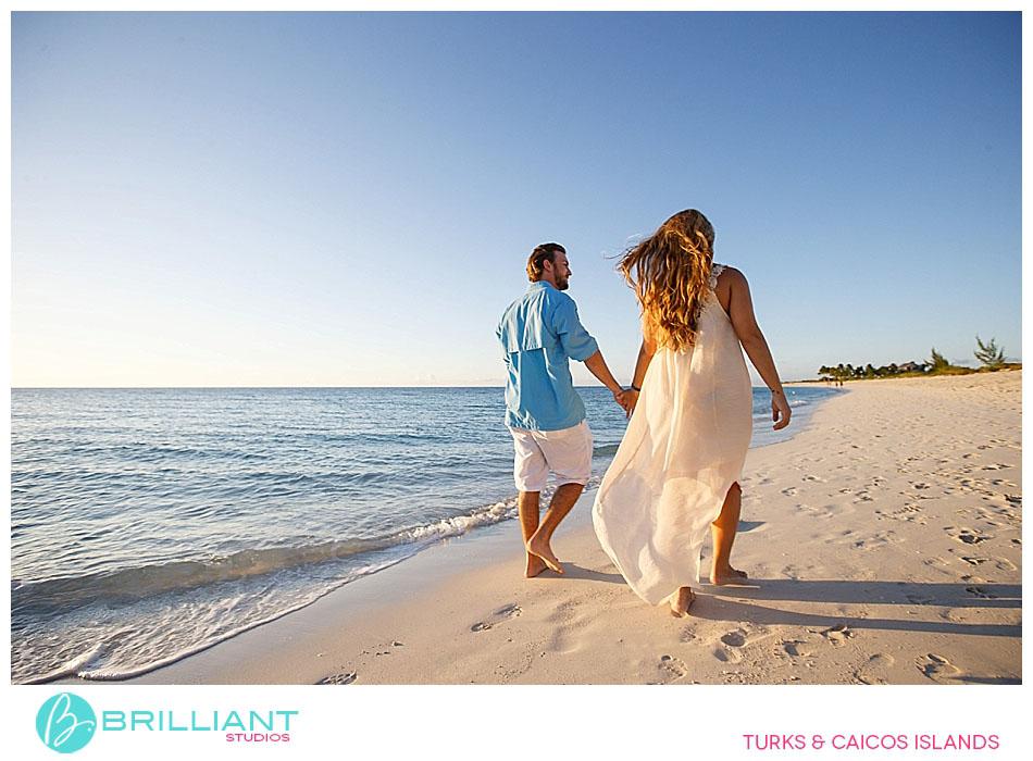 Wedding proposal on Grace Bay Beach