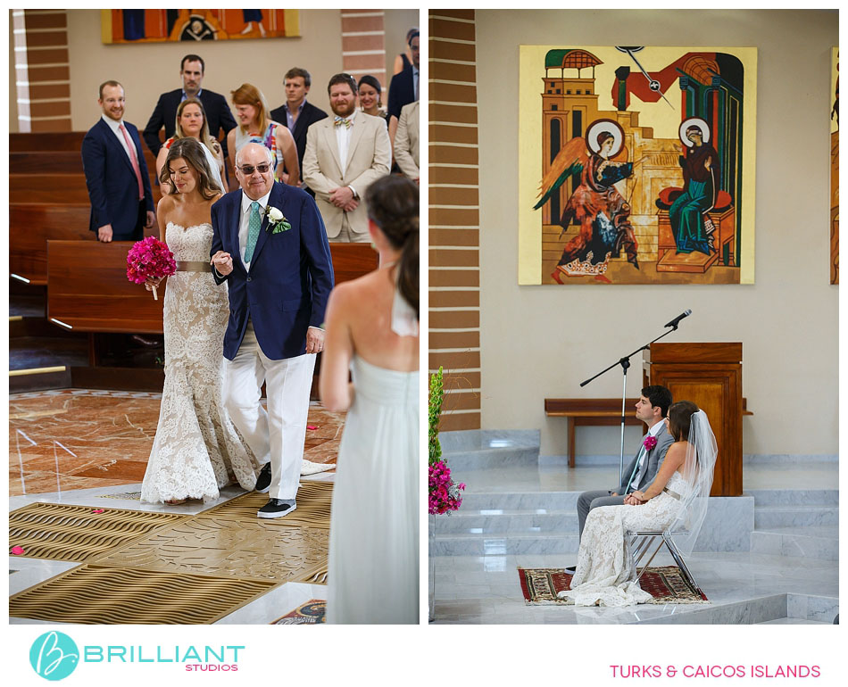 Catholic Wedding at the church on Providenciales