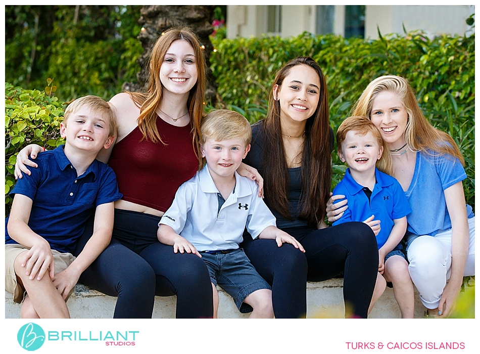 Turks and caicos family photo session