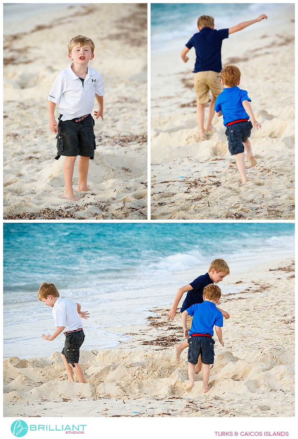 kids during a photo shoot in the turks and caicos