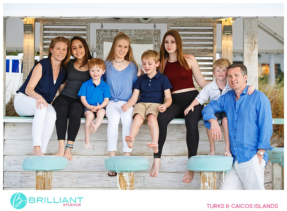 group family photo at the palms turks and caicos