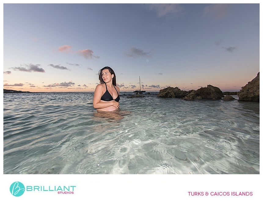 mother to be photo shoot in Grace Bay
