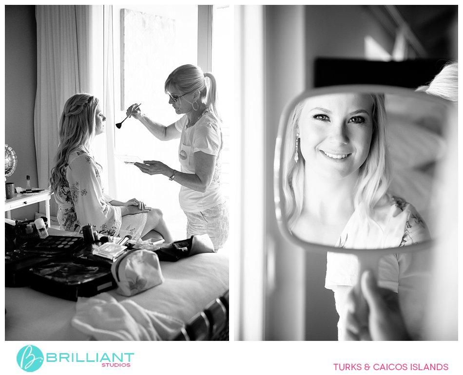 bride getting ready at Ocean Club West