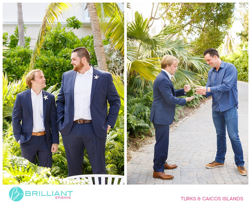 groom and groomsmen Turks and Caicos