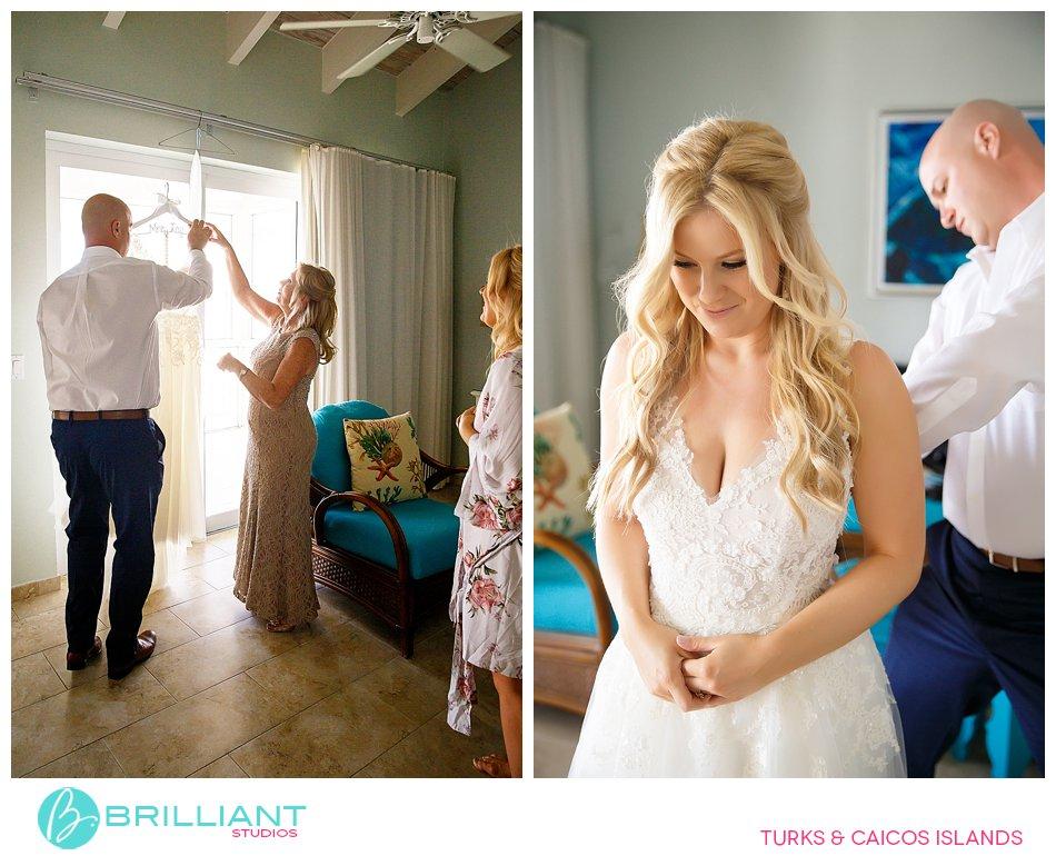 wedding dress Turks and Caicos