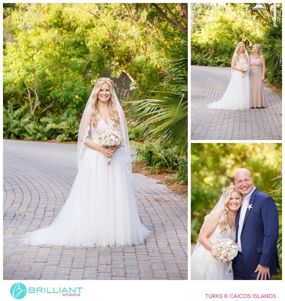 bride in Turks and Caicos