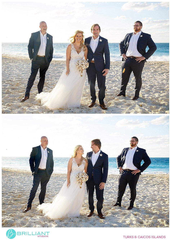 Wedding party on Grace Bay Beach