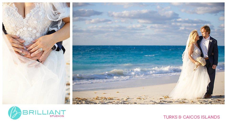 wedding couple on Grace Bay Beach