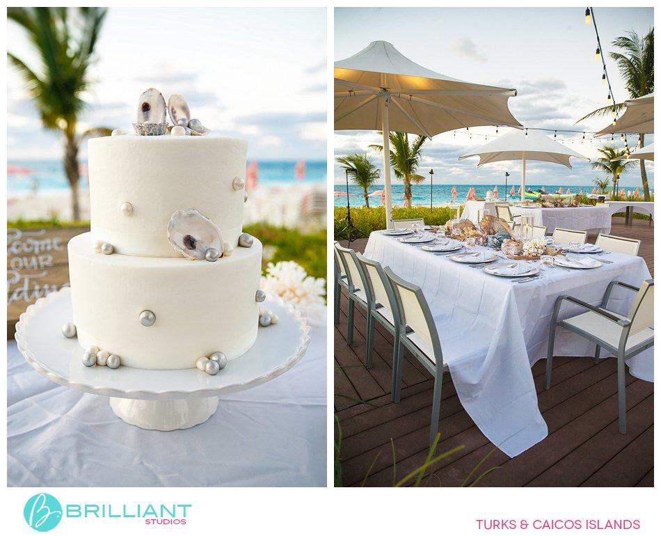 Destination wedding Turks and Caicos and wedding cake
