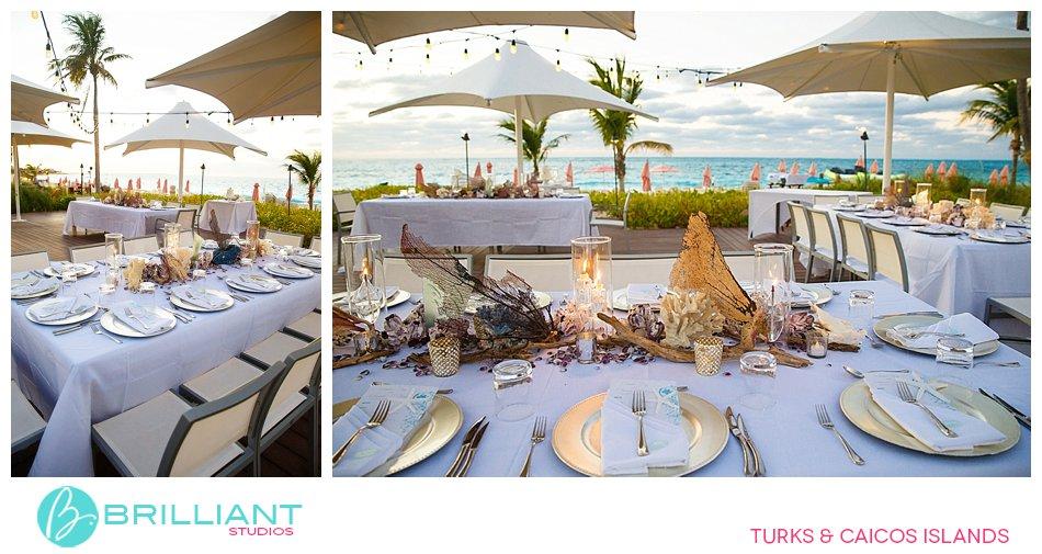 wedding set up at Ocean Club West Resort