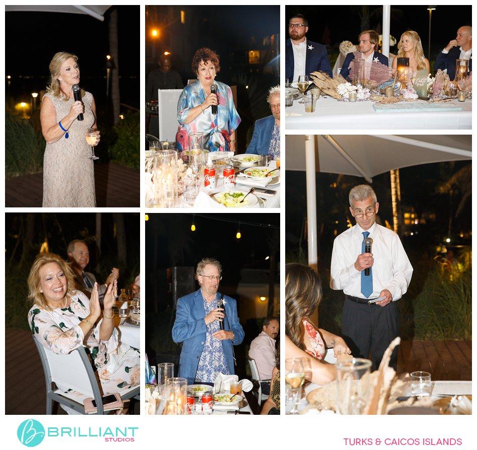 wedding speeches Turks and Caicos