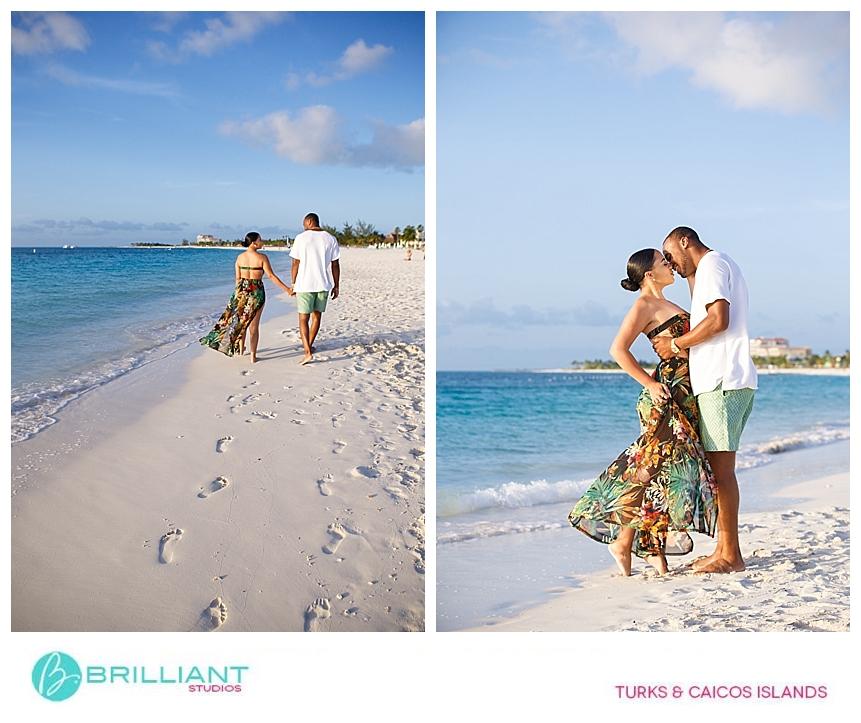 couples photo shoot on grace bay beach