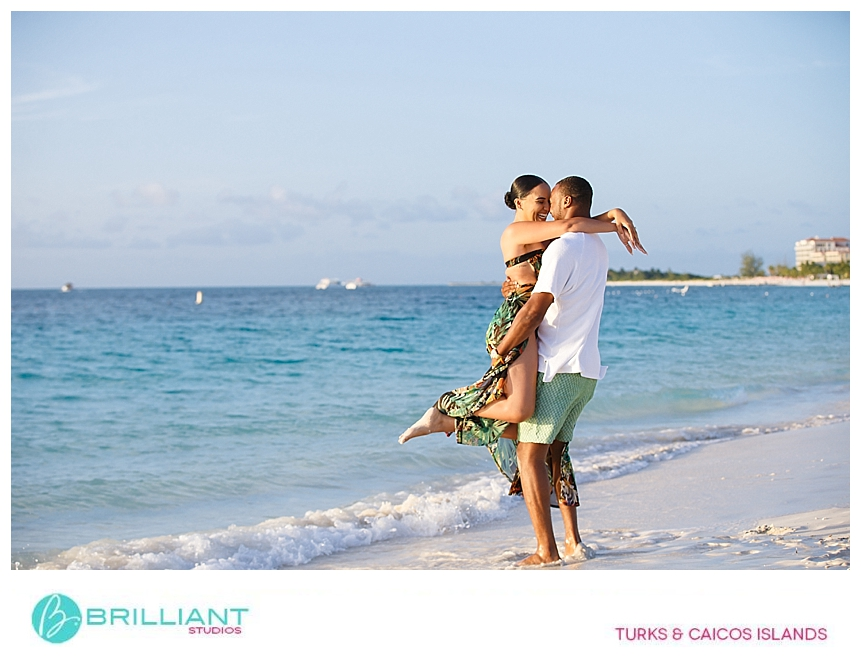 couple having fun in the turks and caicos