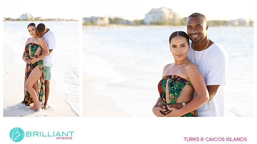 grace bay club couple images after getting engaged