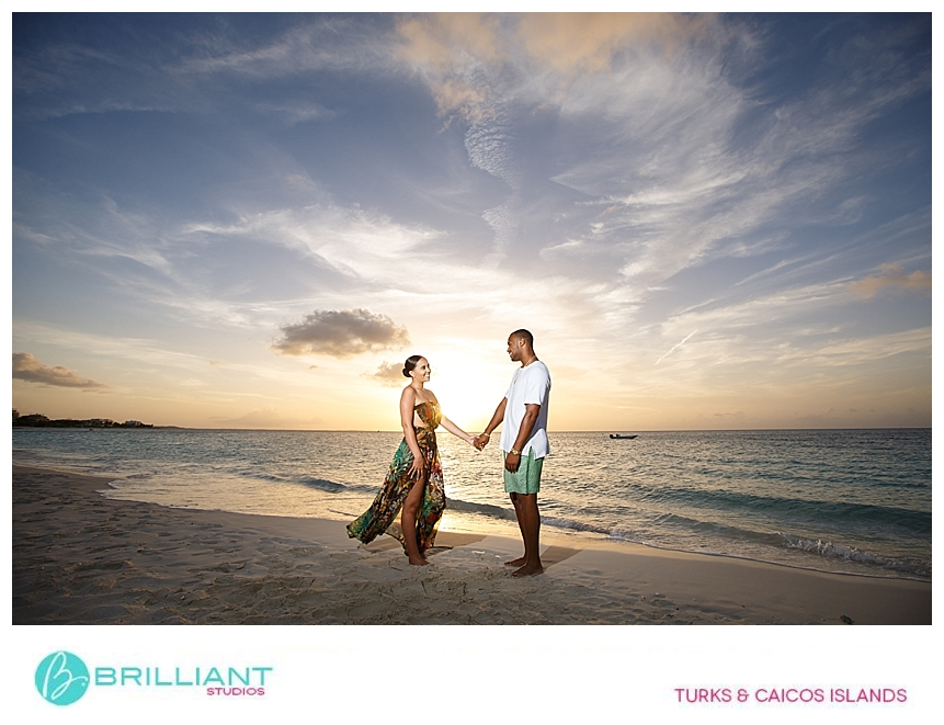 turks and caicos photographers capturing a couple during sunset