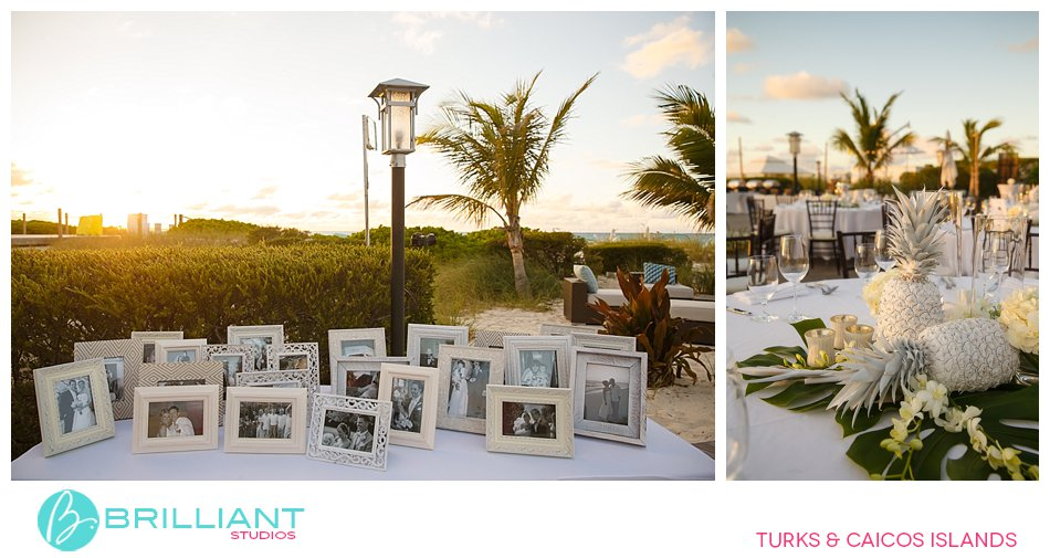 details at welcome dinner Turks and Caicos Islands