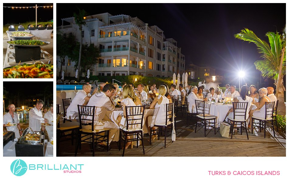 The Palms welcome dinner Turks and Caicos Islands