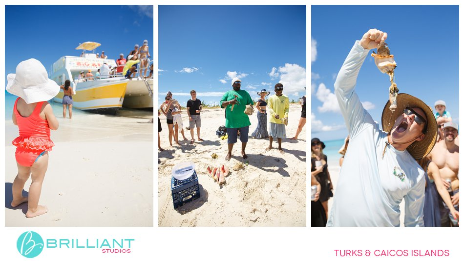 conch eating Turks and Caicos Islands