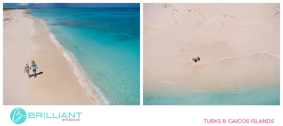 drone photography Big water Cay Turks and Caicos Islands
