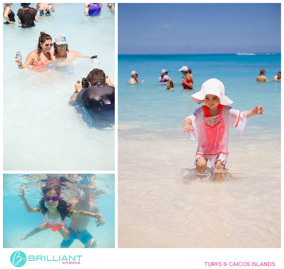in water photography with Brilliant Studios Turks and Caicos Islands