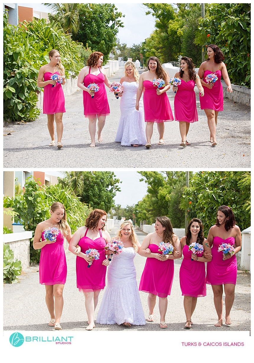 Bridal party Grand Turk Front Street