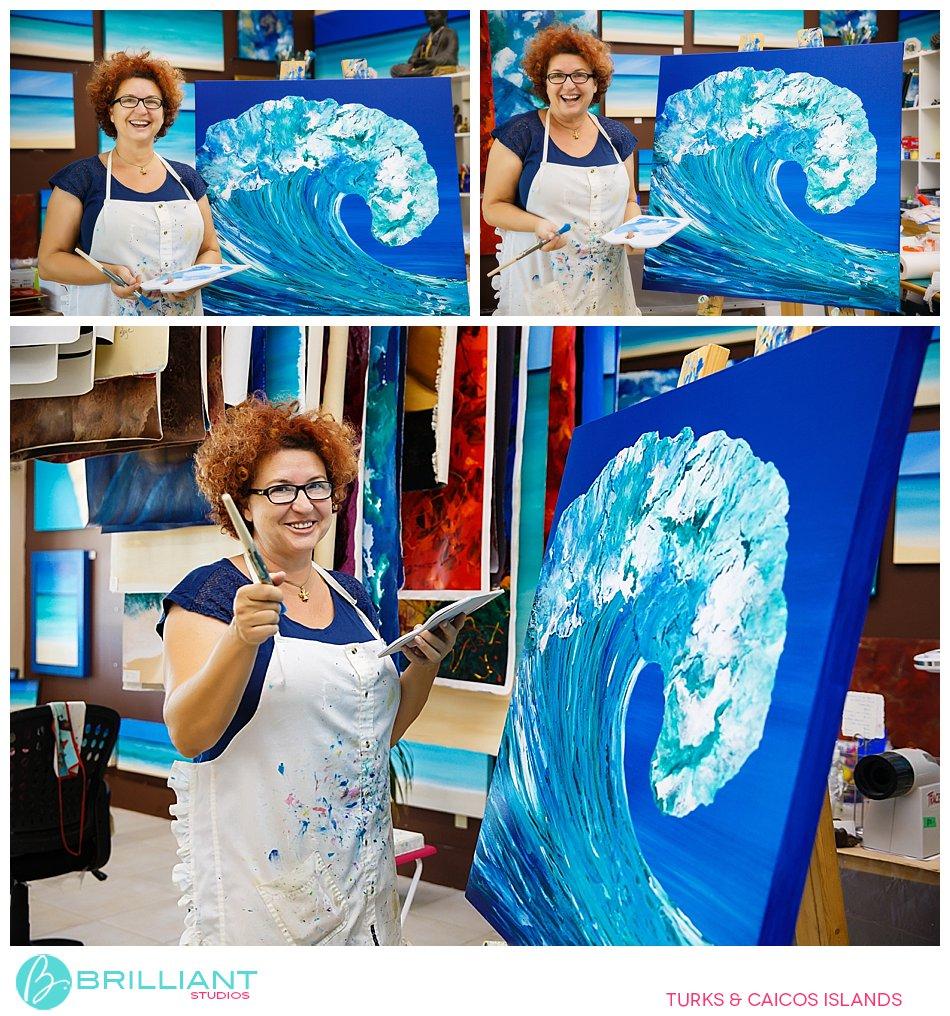The artist Alex Skye Turks and Caicos Islands