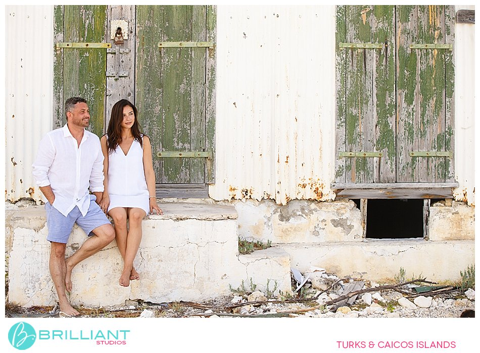 photo shoot at old house in South Caicos