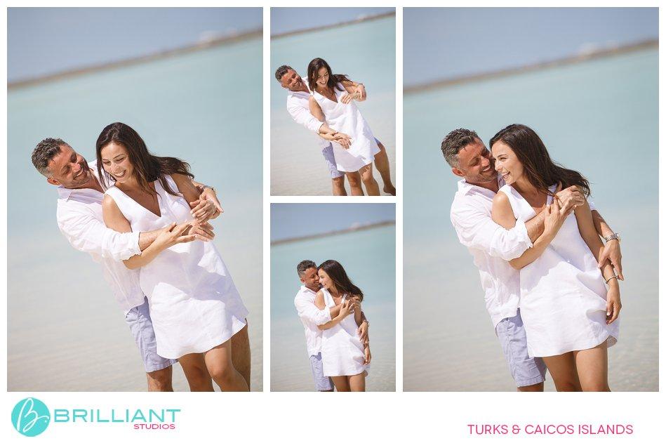 couple on beach on South Caicos