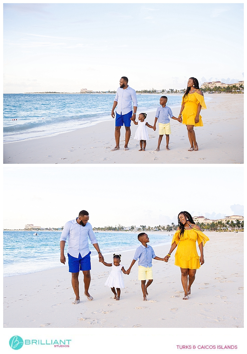 family portrait in the turks and caicos
