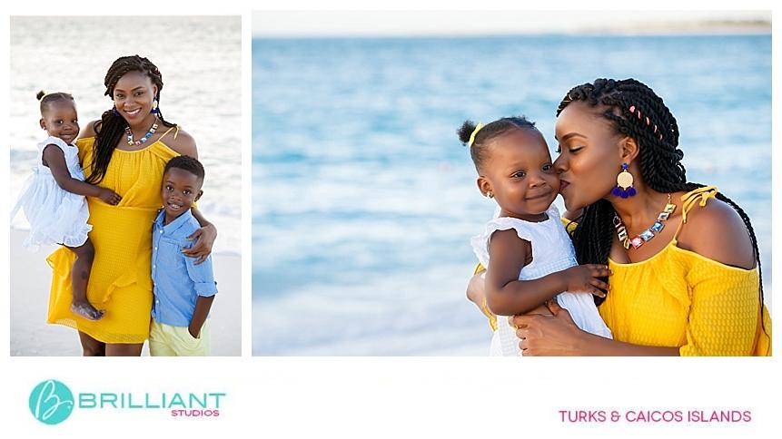 grace bay family photo shoot