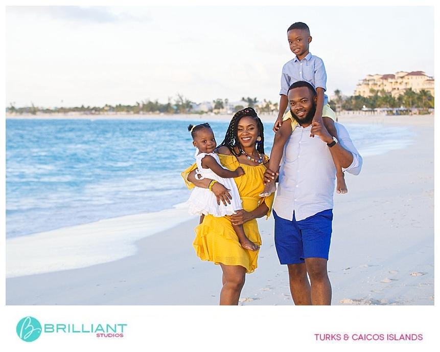 family portrait in providenciales
