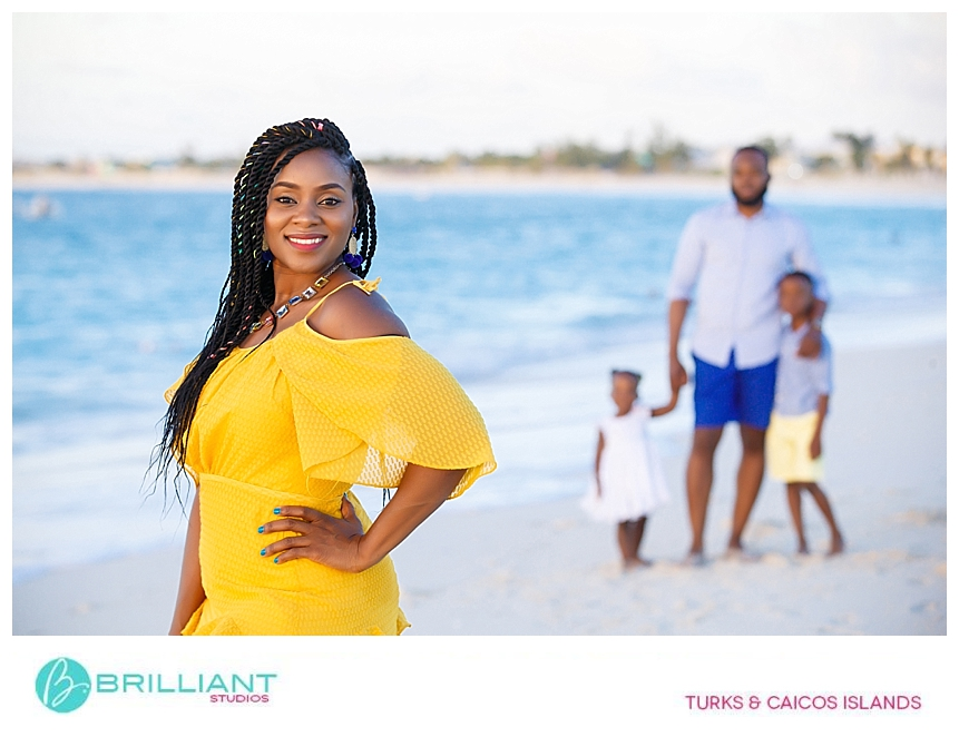 family portrait in turks and caicos