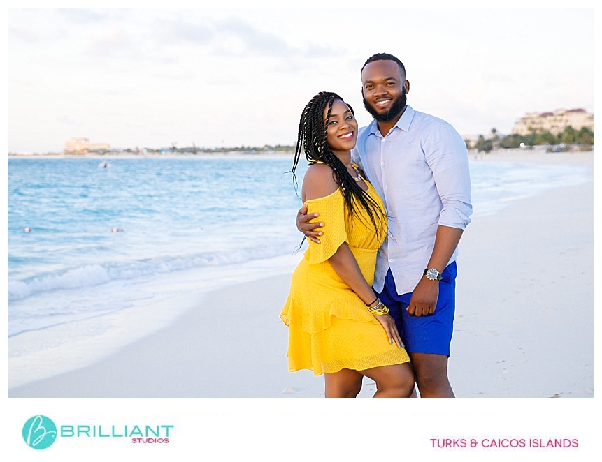 couple during photo shoot with brilliant studios