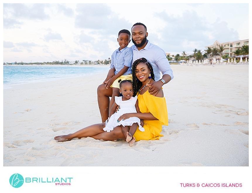 turks and caicos family photo shoot