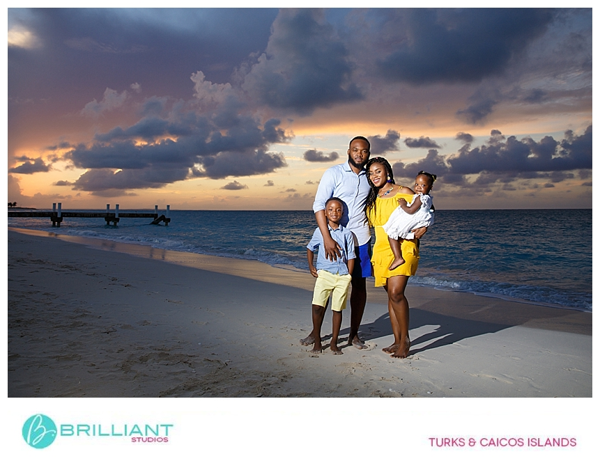 sunset photo with brilliant studios in the turks and caicos