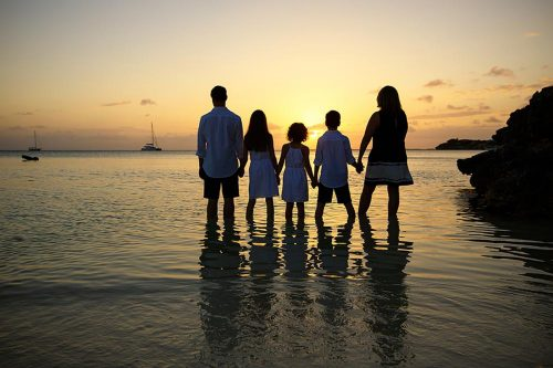 Sunset Beach, Family Portrait Photography in Turks and Caicos
