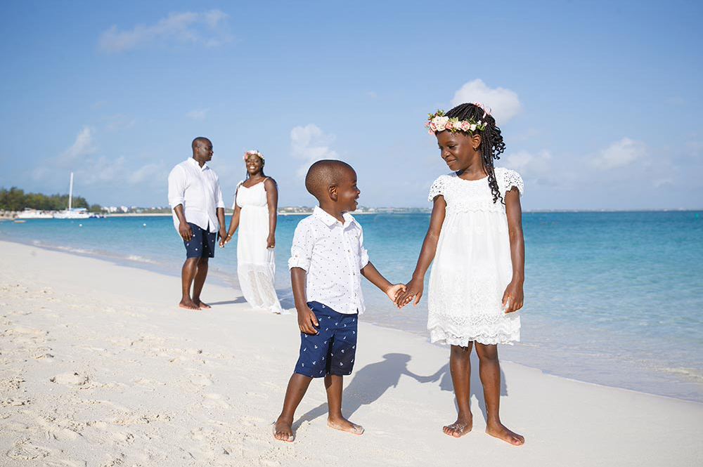 Grace Bay Beach family portrait photographers, Turks and Caicos